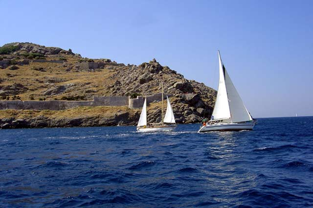 Travel to Athens Photo Gallery  -  LIMNOS REGATTA 2003